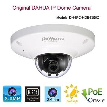 Dahua 3.0 Megapixel POE IP cámara domo seguridad IPC-HDB4300 C Metal caso ONVIF: Amazon.es: Electrónica