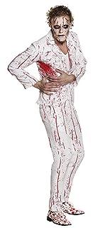 Boland 79094 Costume da Uomo Mr Slaughter, Taglia 50/52, Bianco/Rosso