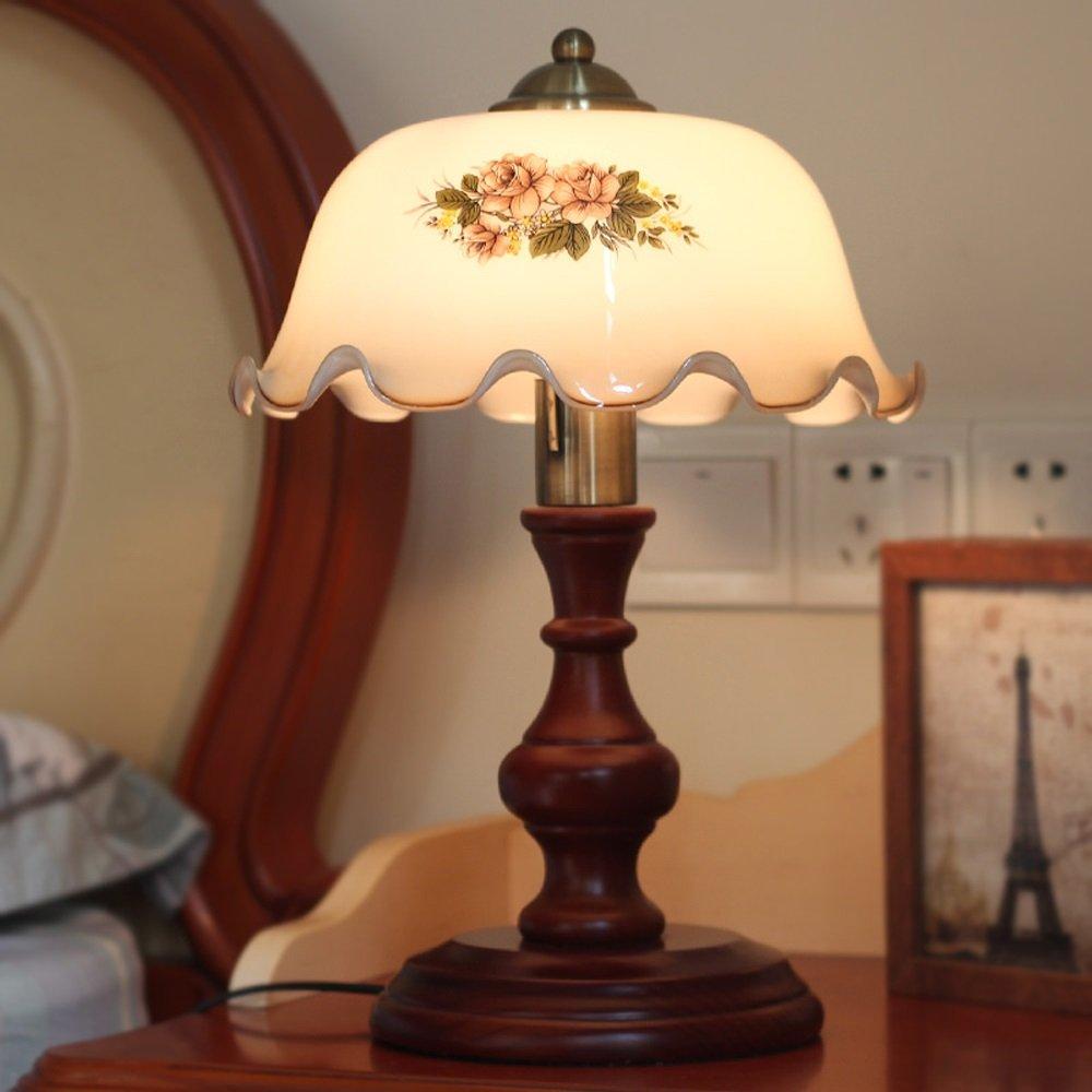 Kreative klassische chinesische Stil Tischlampe Massivholz ...