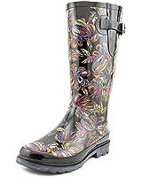 Amazon.com | Sakroots Women's Rain Boots Black Tonal Size 6 | Mid-Calf