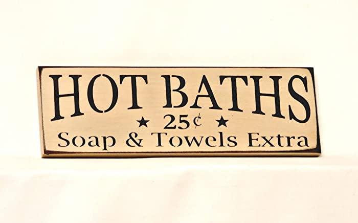 Amazon.com: Hot Baths - Country Sign, 4\