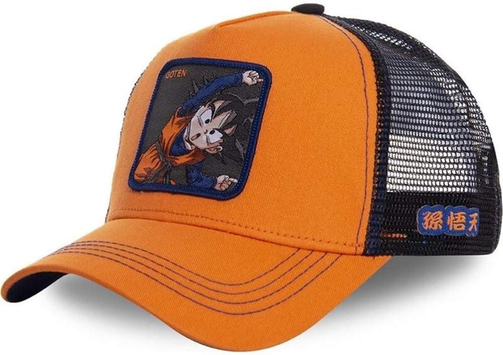 XIANGNAIZUI New Dragon Ball Z Mesh Hat Goku Baseball Cap Black /& Yellow Curved Brim Cap hat Color : Goku, Size : 54cm 62cm