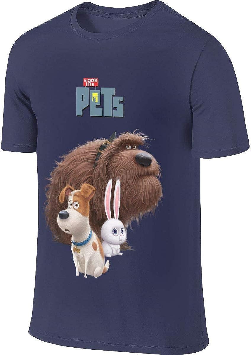 Hengteng Man Customized Novelty Tee The Secret Life of Pets Max Duke Snowball T Shirt