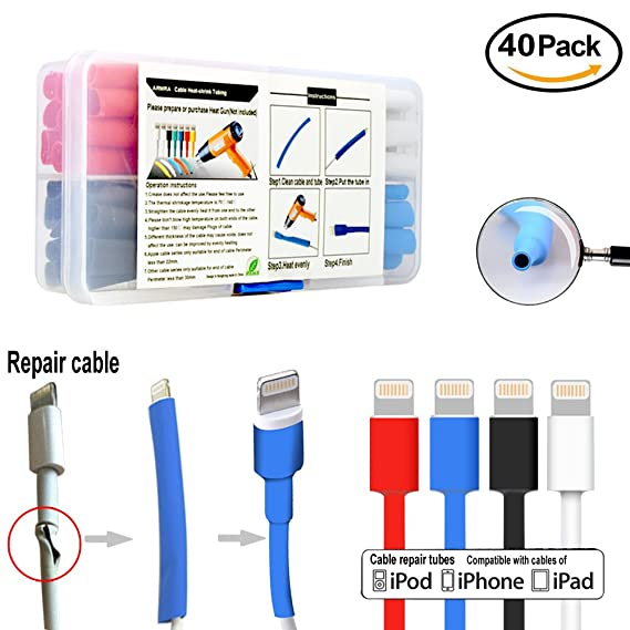 Amazon.com: 40pcs iPhone Cable Tube to Protect and Extend Life of ...