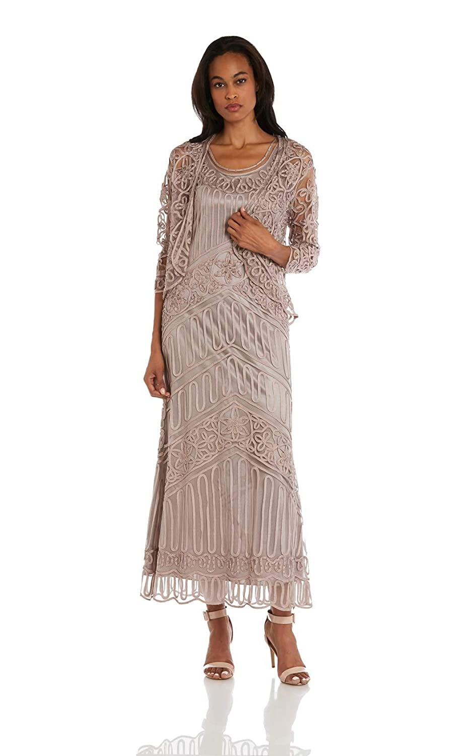 Soulmates 1603 Soutache Lace Embroidered Dress And Jacket
