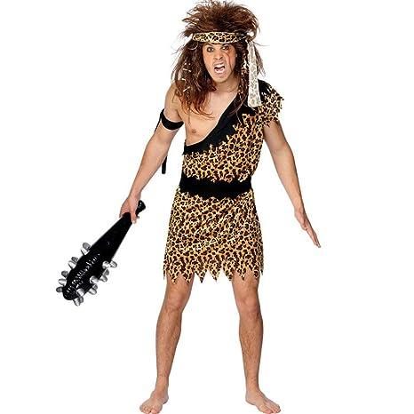 Smiffys, traje de hombre de las cavernas, túnica, diadema y pulsera, talla L, 20443