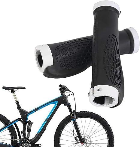 Puños ergonómicos Antideslizantes para Manillar de Bicicleta Manillar de Goma para Bicicleta de montaña Barras de Ciclismo Cierre con Manillar (Color: Blanco y Negro): Amazon.es: Deportes y aire libre
