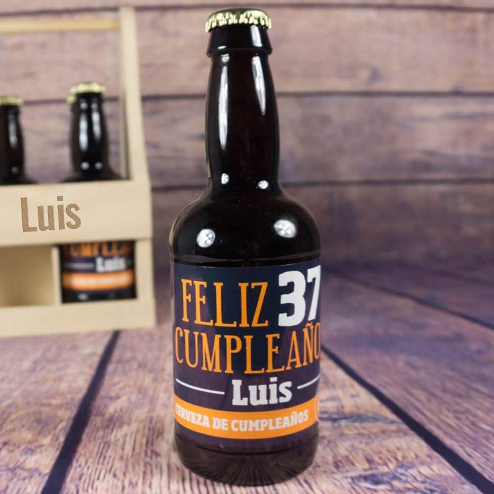 Regalo personalizado: pack de cervezas en estuche de madera personalizado: Amazon.es: Alimentación y bebidas
