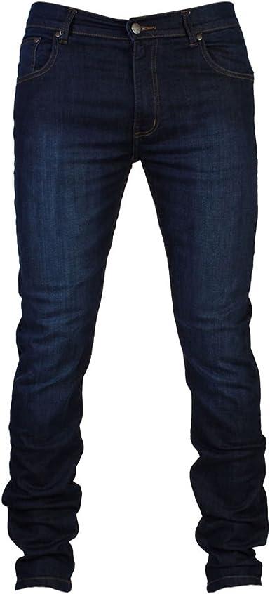Pantalon Vaquero De G72 Denim Ajustado Elastico De Algodon Para Hombre Amazon Es Ropa Y Accesorios