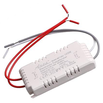 white halogen light led driver power supply electronic transformerwhite halogen light led driver power supply electronic transformer enjoydeal 105w 220 240v to12v amazon com