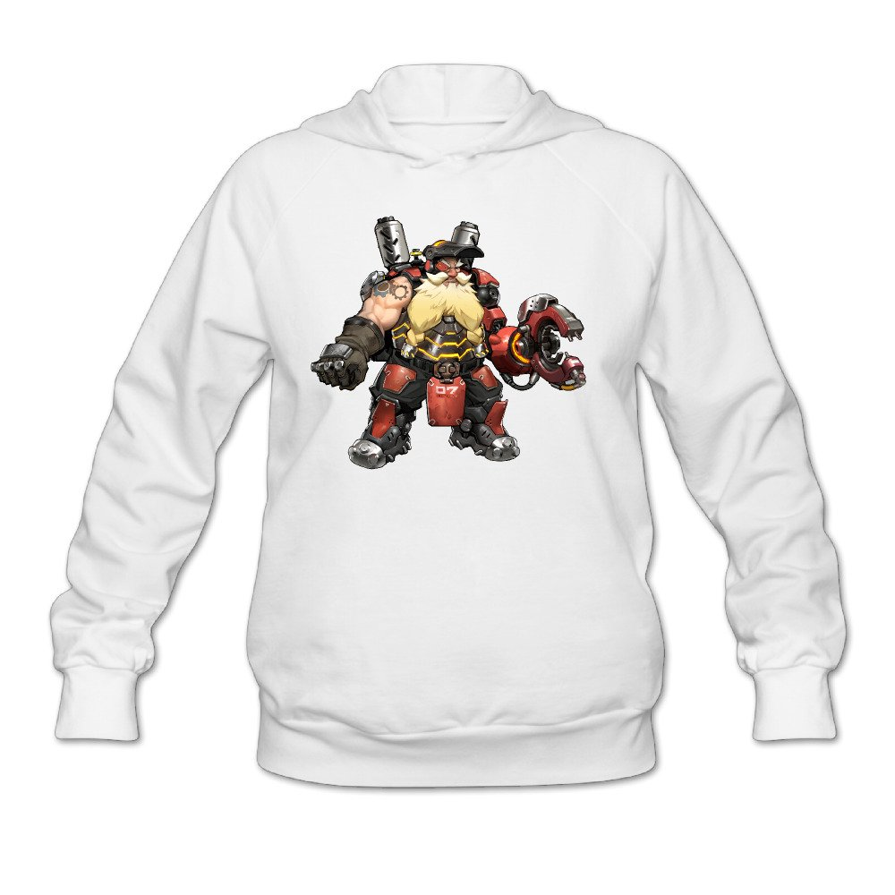 Overwatch Women's Torbjorn Hoodies Sweatshirt White
