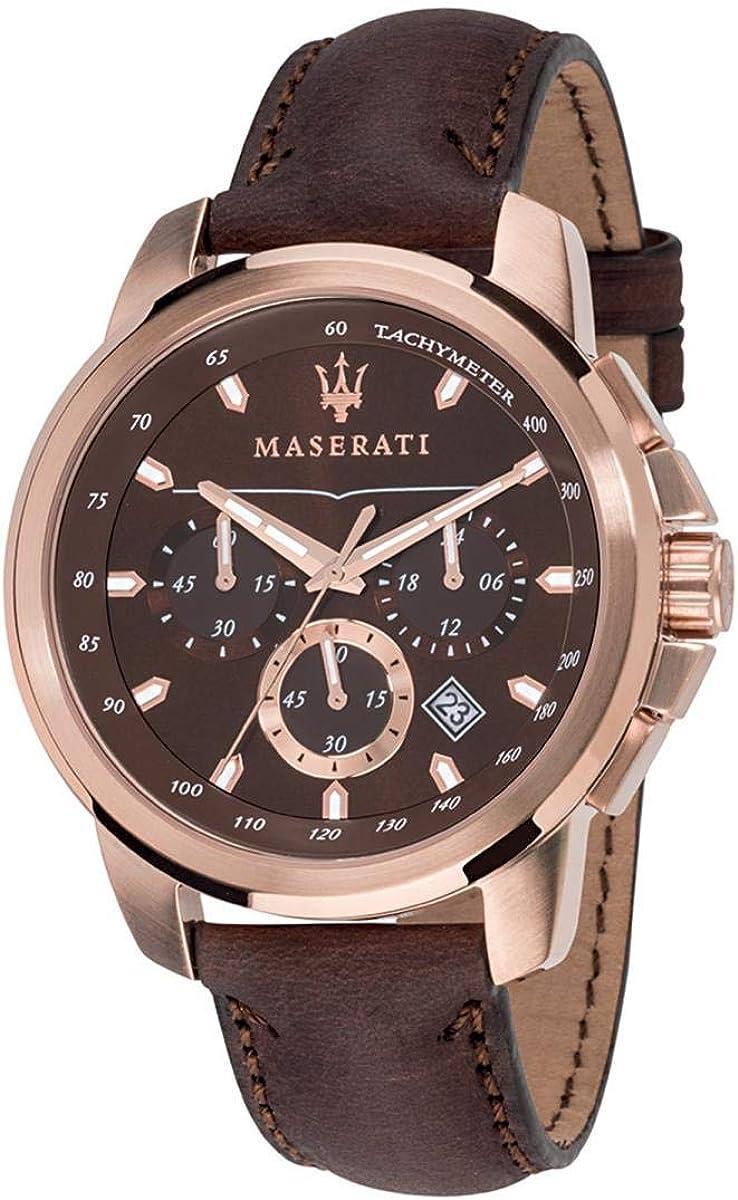 Reloj para Hombre, Colección Successo, Movimiento de Cuarzo, cronógrafo, en Acero y Cuero - R8871621004