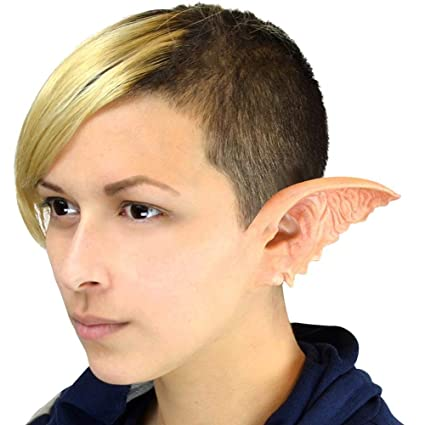 e021b66c782 Image Unavailable. Image not available for. Color  Woochie Classic Latex  Ears - Professional Quality Halloween Costume Makeup ...
