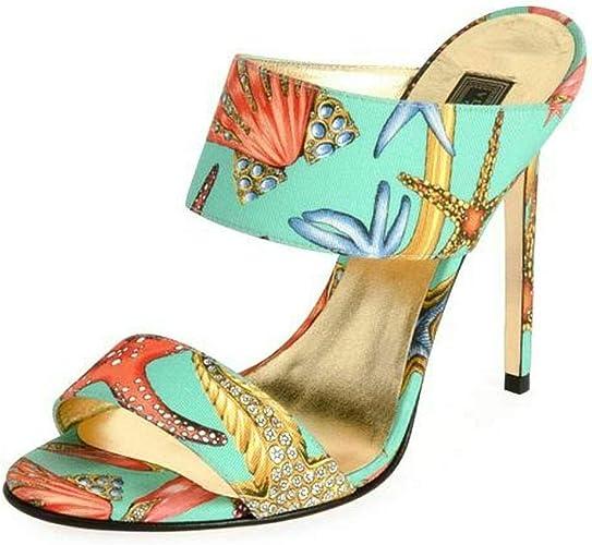 Versace Tresor De La Mer Mule Sandals