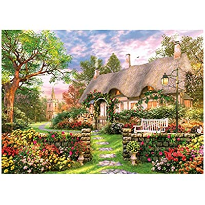 Larcele Puzzle for Children Over 6 Jigsaw Puzzles Smart Game for Adults 1000pcs PZZ-01(English Cottage): Toys & Games