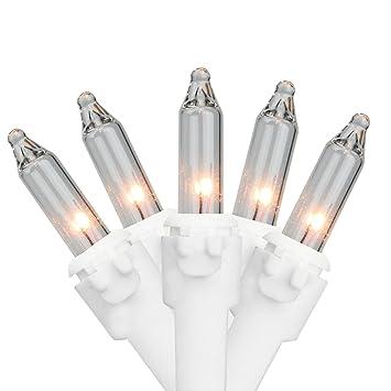 "Northlight 20 Clear Mini Christmas Lights 2.5"" Spacing - White Wire - Amazon.com : Northlight 20 Clear Mini Christmas Lights 2.5"