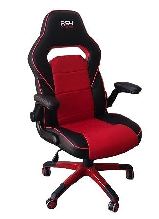 Sillón de oficina rojo y negro asiento Gaming deportivo ...