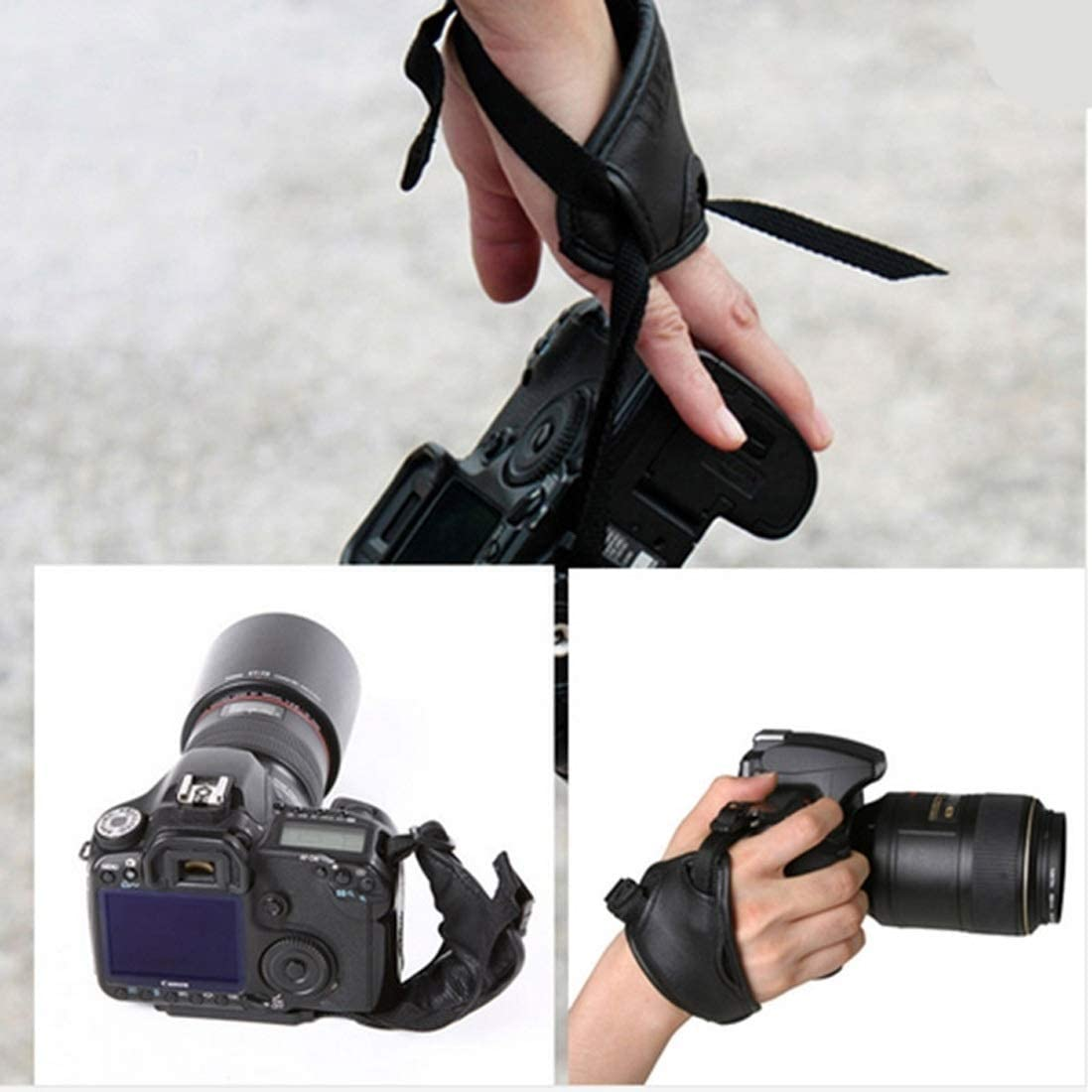 MEETBM ZIMO,Hand Grip Soft PU Leather Wrist Strap for Nikon//Canon//Sony Camera