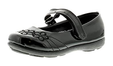 New Girls Chatterbox Black School Formal Shoes Strap Size 4 5 6 7 8 9 10 11 12