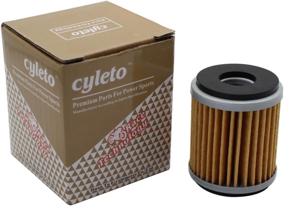 Cyleto Filtre /à huile pour Yamaha YFZ450 YFZ‿450 Bill Ballance Edition 2006//YFZ450X BILL BALLANCE 2009 2010