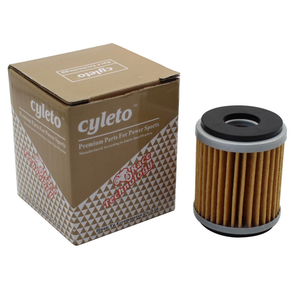 Pack of 2 Cyleto Oil Filter for Yamaha WR125 R 2009-2015//WR125X WR 125 X 2009-2015//YZF R125 2008-2015