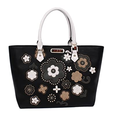 493c73ad2cc3 Image Unavailable. Image not available for. Color  Nicole Lee ATHENA FLORAL  STUDDED SHOPPER BAG