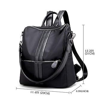 Nosterappou Youth Multi-Function Shoulder Bag Shoulder Bag Fashion Casual Large Capacity Nylon Cloth Backpack Waterproof Bag Color : Gray