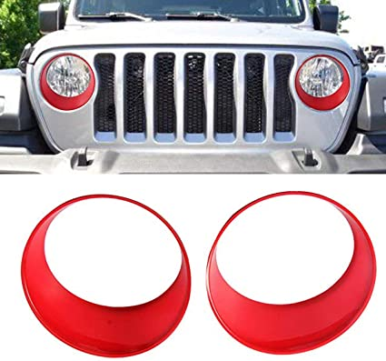 JL//JLU Sport 2018 2019 Camoo for Jeep JL Headlight Covers,Grille Trim covers/& Door Hinge covers ABS Fits Jeep Wrangler