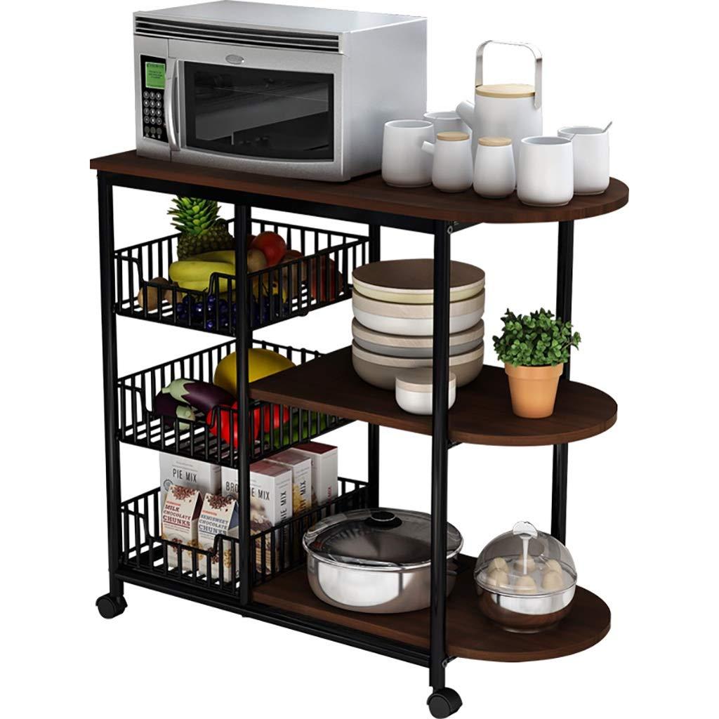 キッチンラックの床マルチレイヤー電子レンジストレージラックのキッチン用品野菜調味料ボウルのポットラック (色 : B) B07L99FC9F B