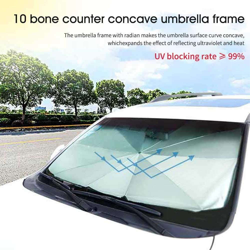 Parapluie de Soleil de Voiture Pliable Bloquer la Chaleur UV Pare-Soleil de Pare-Brise de Voiture Parapluie de Pare-Brise de fen/être de Voiture