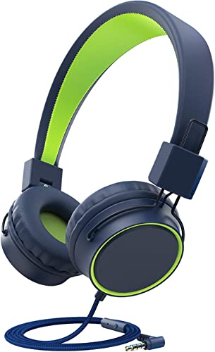 ChenFec Kids Headphones, Headphones for Kids Children Girls Boys w 85dB Volume Limited,Foldable Adjustable On Ear Headphones with 3.5mm Jack Microphone for Mp3 4 iPad Tablet Computer School