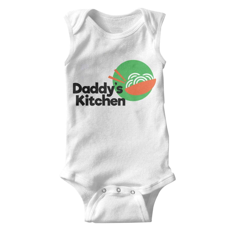 Daddys Kitchen Sleeveless Natural Organic Baby Onesie Bodysuit 0-3 Months for Kids Boys Girls