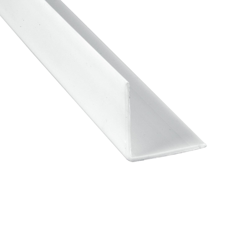 Prime-Line MP10069 Corner Shield, 2-3/8 in. x 48 in., Vinyl Construction, White, 6 Pack