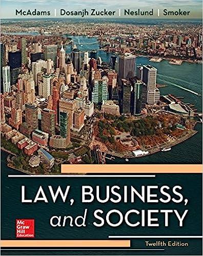 Law business and society tony mcadams kiren dosanjh zucker law business and society 12th edition fandeluxe Choice Image