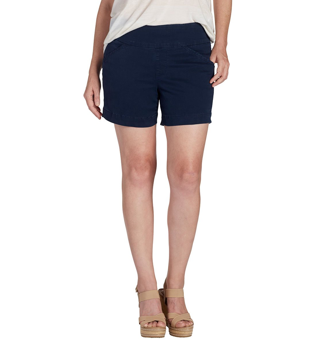Jag Jeans Women's Ainsley Pull on 5'' Short, Nautical Navy, 12