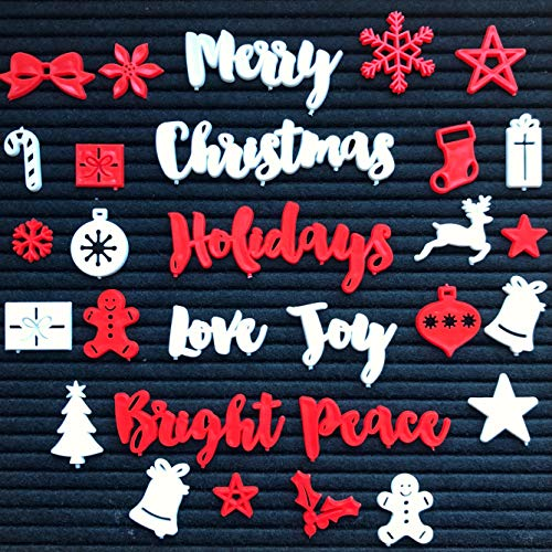 New!! Christmas and Holiday Words and Symbols for Felt Letter Boards (Board NOT Included)