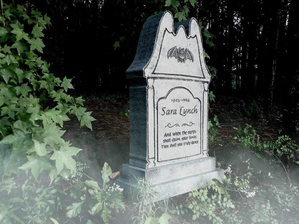 Evil Soul Studios Sara Lynch's Last Dance Tombstone Bat Headstone