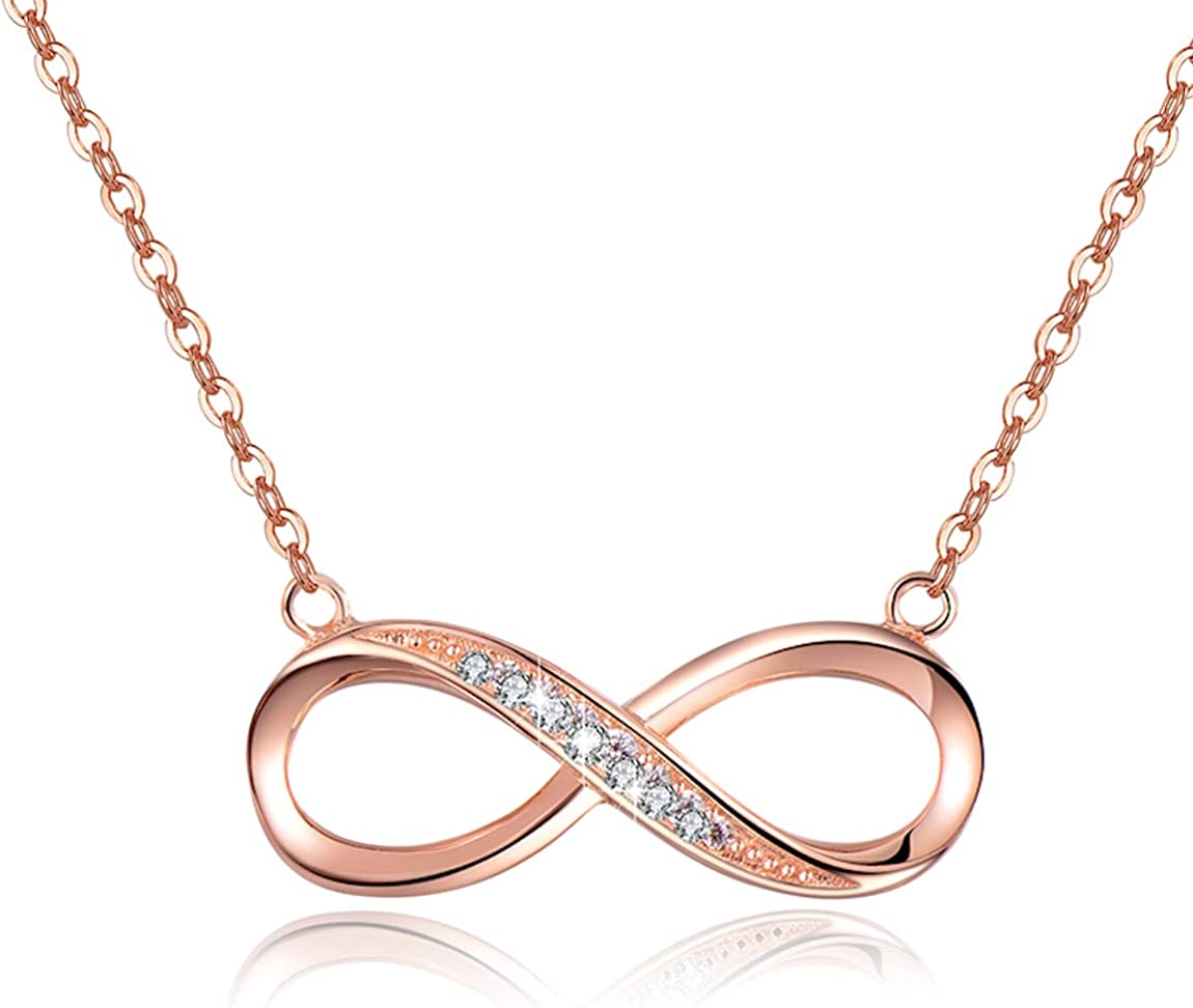 Joined Rings Necklace  Love Necklace  Infinity Necklace  Anniversary  Friendship Necklace  Girlfriend Necklace  Love