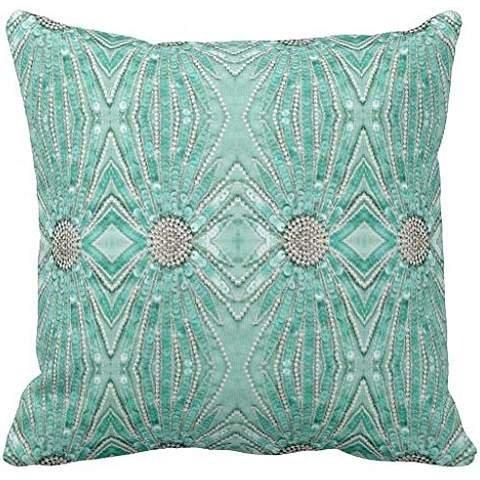 Seafoam Green Bling Pattern Design Print Throw pillow case 20*20 (Sea Green Throw Pillows)