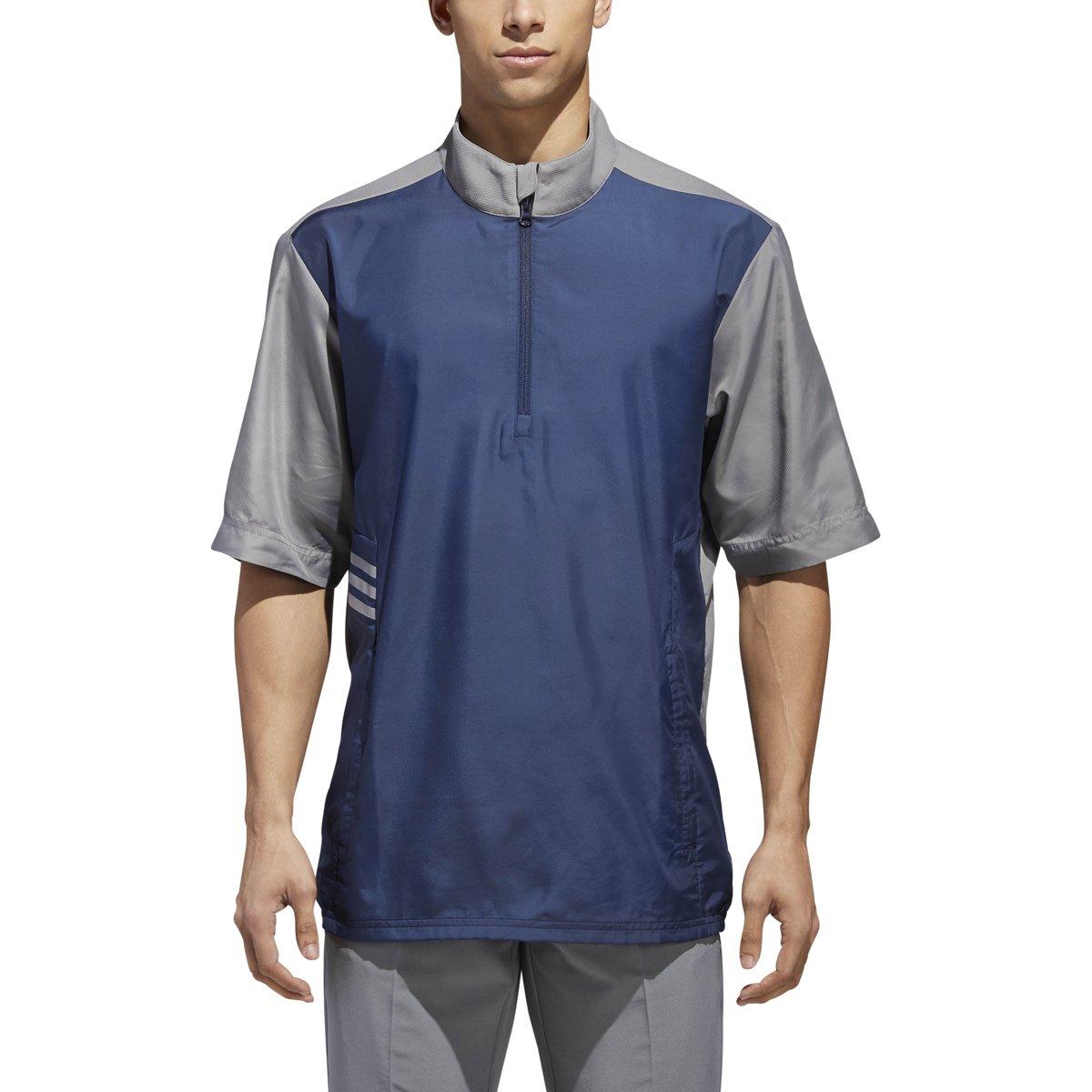 adidas Golf Club Short sleeve Wind Jacket, Collegiate Navy, X-Large