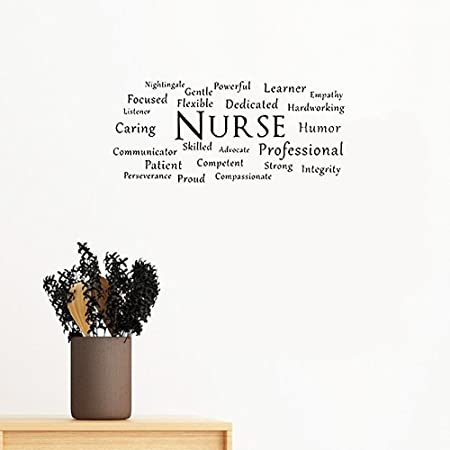 66a47c44 Wall Decal Stickers Quotes Saying And Words Diy Nurse Decal Nurse Rn