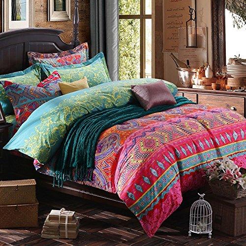 Abreeze 4-Piece Colorful Bohemian Duvet Covers Exotic Boho Bedding Queen by Abreeze (Image #4)'