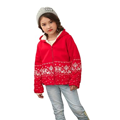 1e0447a47eca For 2-5 Years Old Kids Jackets, Voberry Toddler Kids Babys Girls Boys  Autumn Winter Print Hooded Tops Long Sleeve Coat Outwear Warm Clothes  Outwears ...