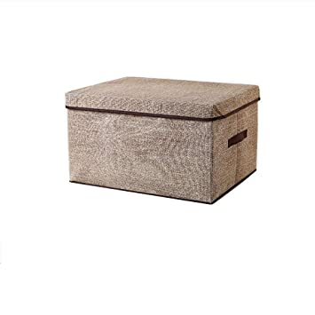 Amazon.com: Caja de almacenamiento tela no tejida con tapa ...