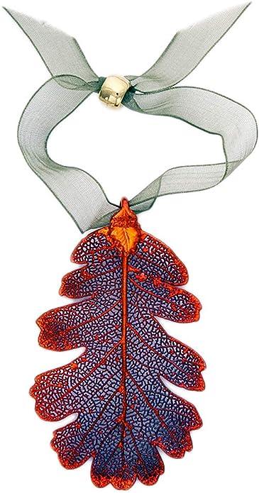 amazon com curious designs ornament oak leaf iridescent real leaf curious designs jewelry curious designs ornament oak leaf iridescent real leaf