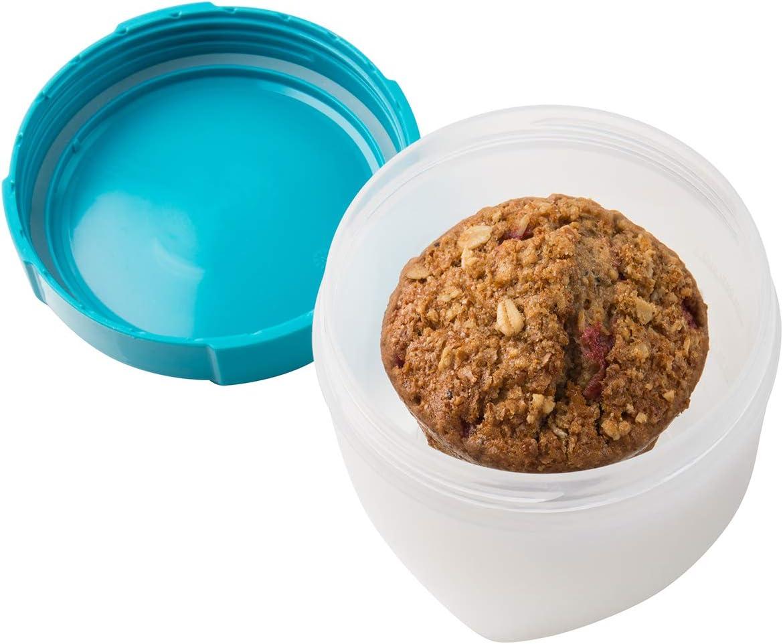 Trudeau Tropcial Blue 12 oz Fuel Fruit Container with Removable Basket Set of 4