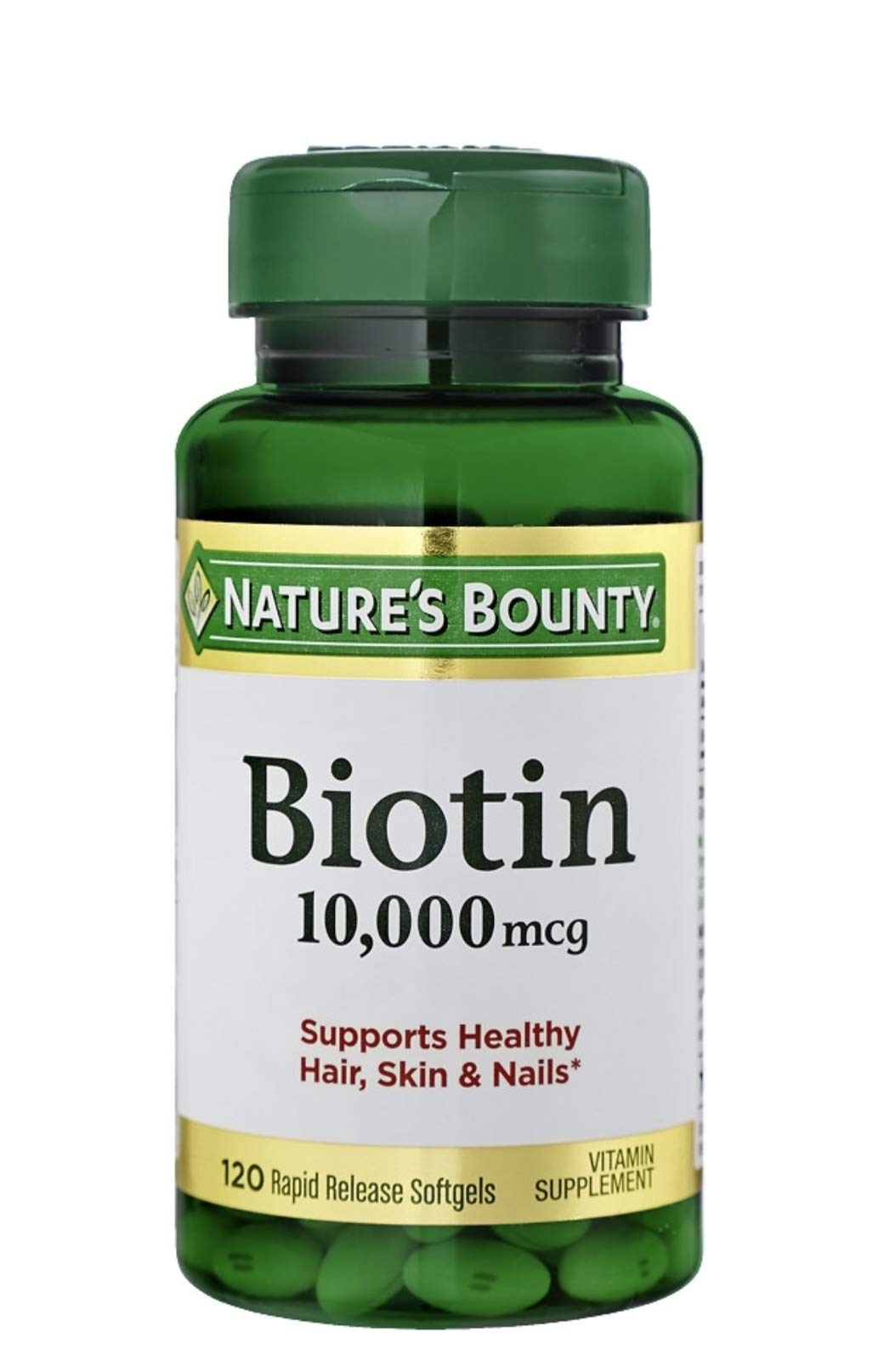 Nature's Bounty Biotin 10,000 MCG Softgels, Multi Pack of 360 Count Total