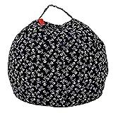 LooBooShop Storage Bag Stuffed Animal Storage Bean Bag Chair Portable s Plush Toy Storage Bag Clothes Organizer with Handle