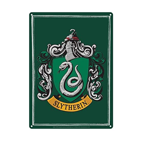 Amazon.com: Harry Potter Slytherin de cartel de chapa 8.3 x ...