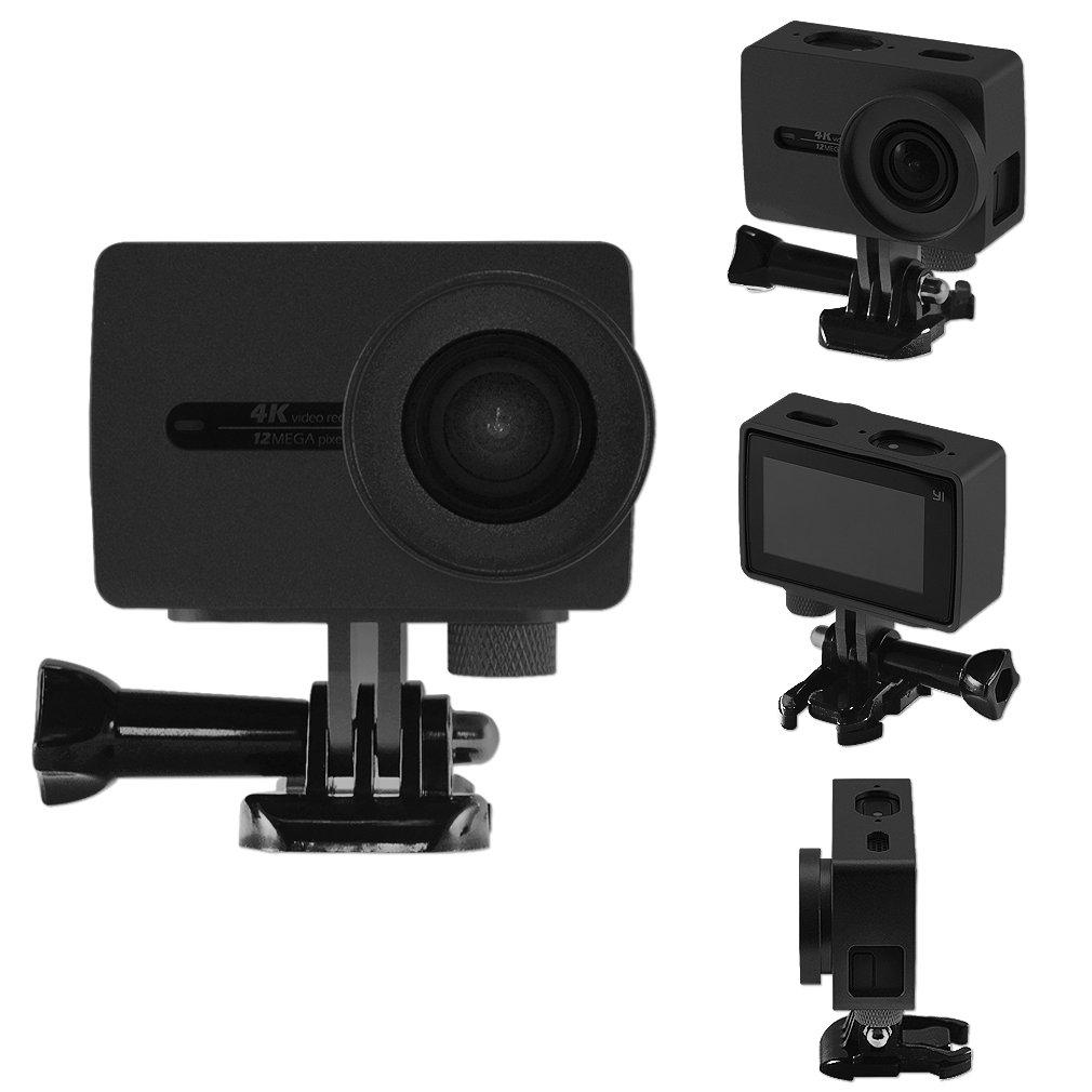 First2savvv XM2-TL-01 black Aluminium Alloy Protective Housing Case Shell for XIAOMI YI 2 4K Action Camera